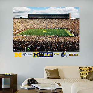 Michigan Wolverines - Michigan Stadium Mural